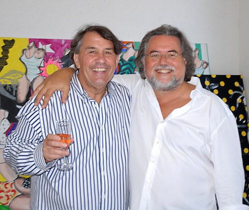 Szczesny with Frédéric Ballester in his studio.