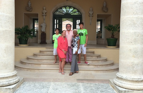 Stefan Szczesny and his family on Mustique